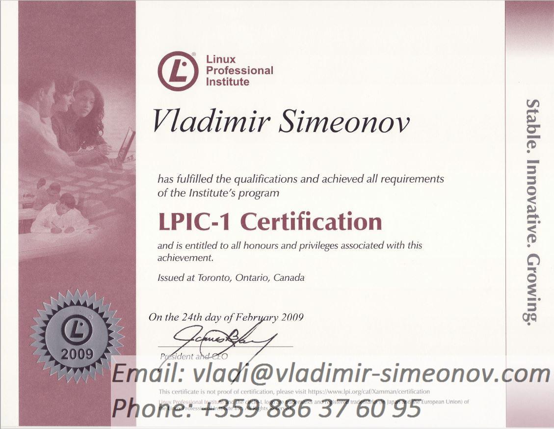 Linux Certificates Vladimy Realm